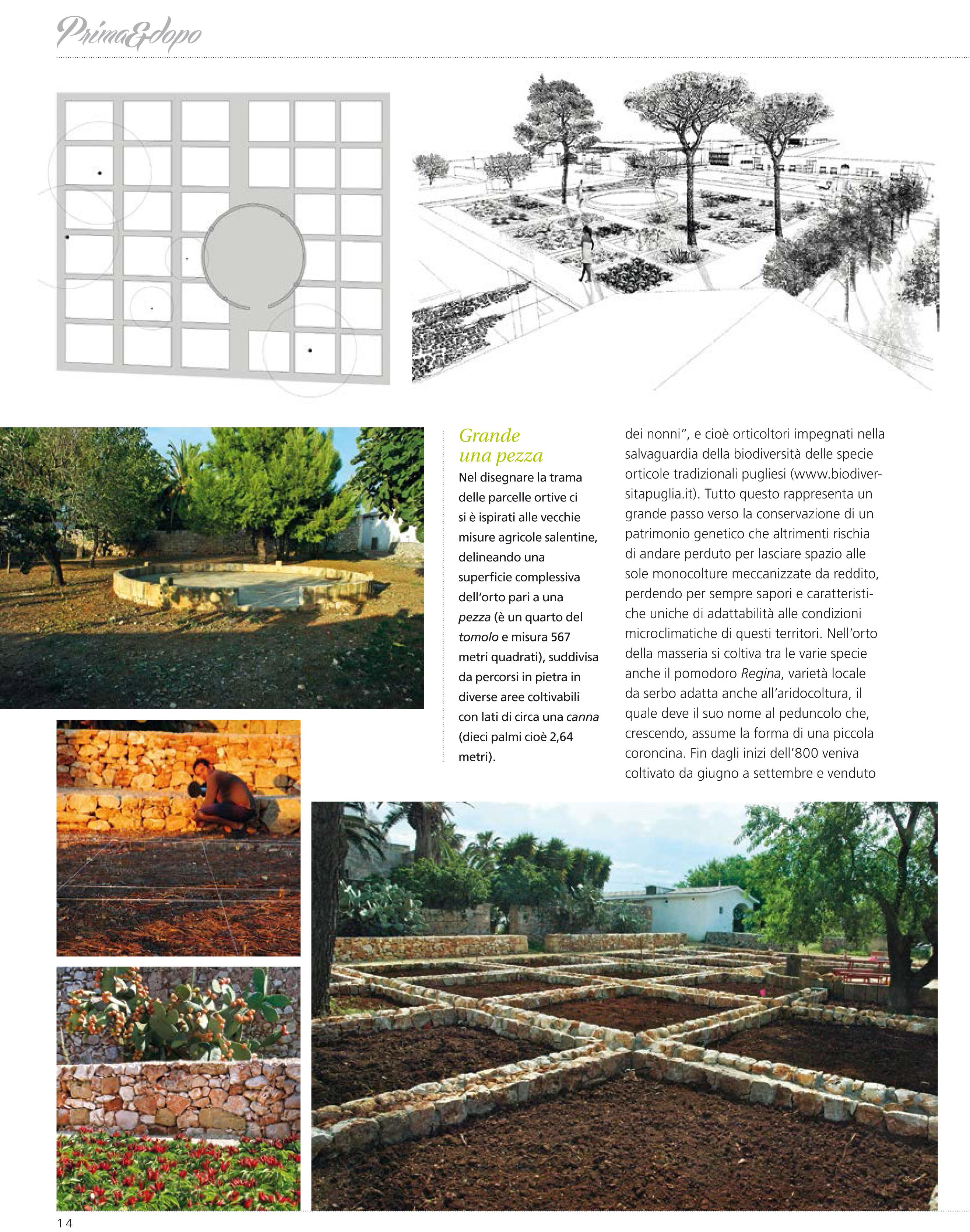 Il progetto biodiverso sulla rivista giardino antico for Progetto giardino mediterraneo